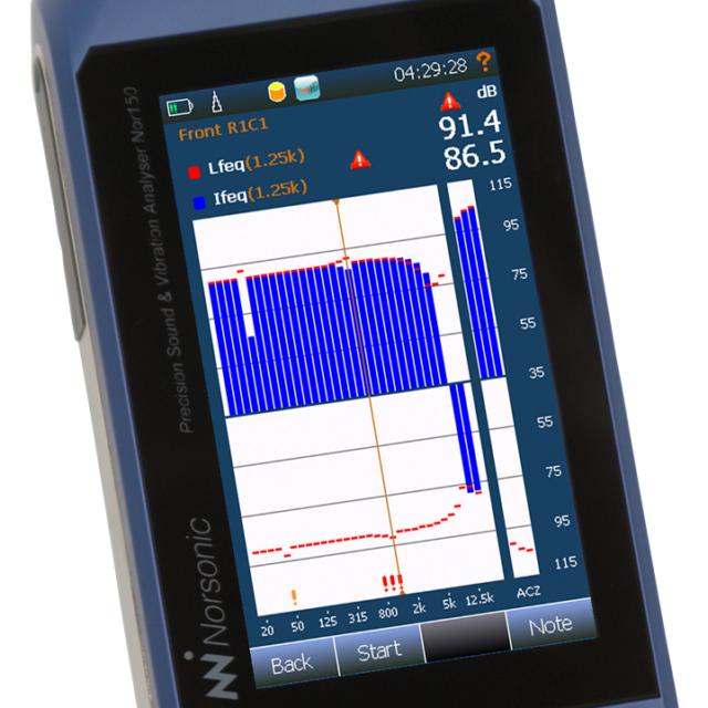 Lyd- og vibrationsmåler Nor150
